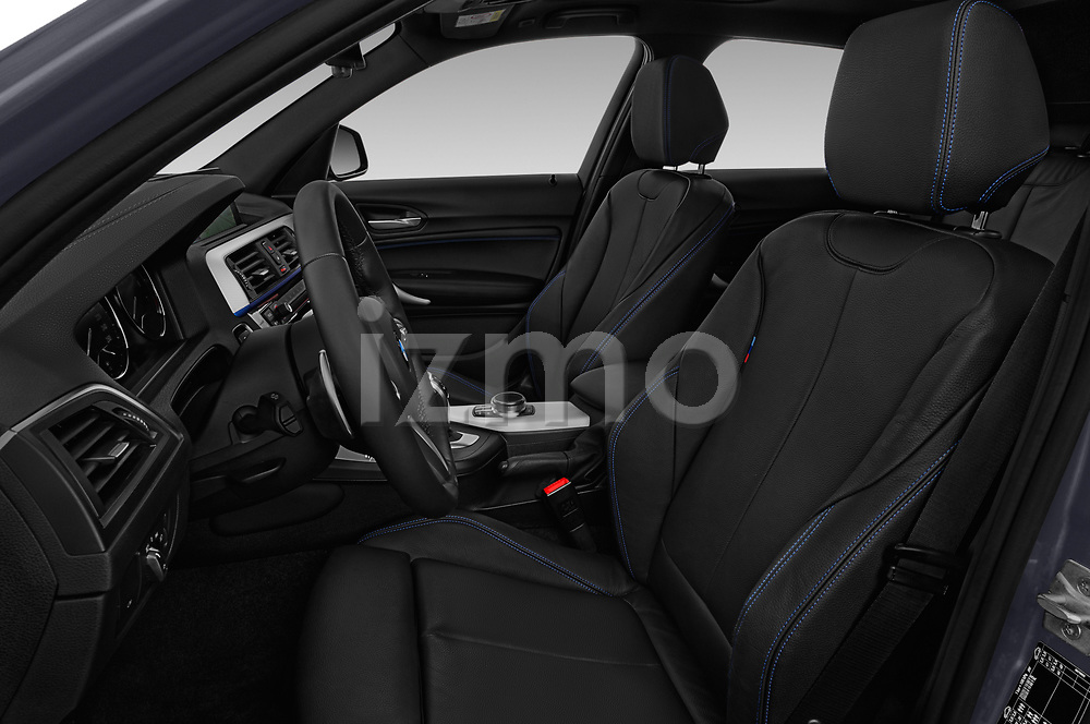 Front seat view of a 2018 BMW 1 Series Base 5 Door Hatchback front seat car photos