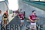 The Causeway team before the Kerry County Senior Hurling Championship Final match between Kilmoyley and Causeway at Austin Stack Park in Tralee