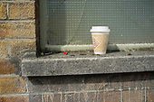 Discarded coffee cup, Shoreditch, London