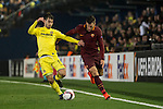 Manuel Trigueros Muñoz of Villarreal CF fights for the ball with Kevin Strootman of AS Roma during the match Villarreal CF vs AS Roma, part of the UEFA Europa League 2016-17 Round of 32 at the Estadio de la Cerámica on 16 February 2017 in Villarreal, Spain. Photo by Maria Jose Segovia Carmona / Power Sport Images
