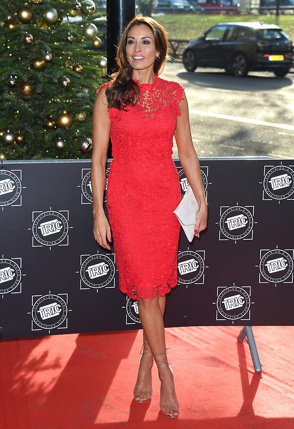 Melanie Sykes<br /> arriving for the TRIC Christmas Party, Grosvenor House Hotel, London.<br /> <br /> <br /> ©Ash Knotek  D3362  12/12/2017