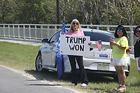 Trump Supporters On Road to Mar-a-Lago