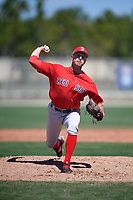 Boston Red Sox pitcher Nick Duron (79) during a Minor League Spring Training game against the Baltimore Orioles on March 17, 2018 at the jetBlue Park Complex in Fort Myers, Florida.  (Mike Janes/Four Seam Images)