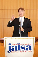 JALSA Annual Meeting honoring Howard Leibowitz and David Gasson VP Boston Capital with guest speaker Congressman Joseph P. Kennedy at Temple Israel Boston MA 1.24.16