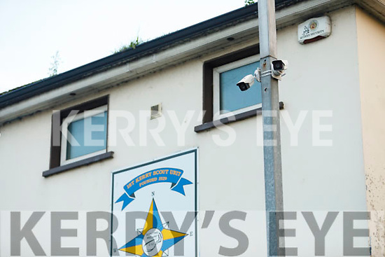 Surveillance cameras at the bottle bank in Garvey's carpark in Tralee on Sunday evening.