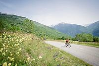 Serge Pauwels (BEL/CCC) reaching the top of the final climb of the day: the Col de Baune<br /> <br /> Stage 6: Saint-Vulbas to Saint-Michel-de-Maurienne (228km)<br /> 71st Critérium du Dauphiné 2019 (2.UWT)<br /> <br /> ©kramon