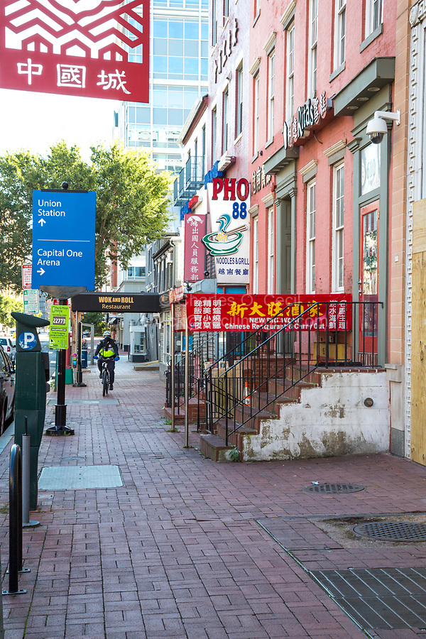 H Street NW, Chinatown Street Scene, Washington DC, USA