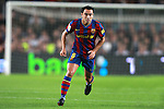 Football Season 2009-2010. Barcelona's player Xavi Hernandez during their Spanish first division soccer match at Camp Nou stadium in Barcelona October 25, 2009