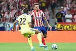 Atletico de Madrid's Saul Niguez and Getafe CF's Damian Suarez during La Liga match. August 18,2019. (ALTERPHOTOS/Acero)