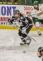 13 November 2015: Providence College Friar Forward Brittney Thunstrom, a Senior from Coon Rapids, MN, in action against the University of Vermont Catamounts at Gutterson Fieldhouse in Burlington, Vermont. The Lady Friars defeated the Lady Cats 4-1 in Hockey East play. Mandatory Credit: Ed Wolfstein Photo *** RAW (NEF) Image File Available ***