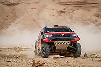 7th January 2021; Riyadh to Buraydah, Saudi Arabia; Dakar Rally, stage 5;  307 Przygonski Jakub (pol), Gottschalk Timo (deu), Toyota, Overdrive Toyota, Auto, action during the 5th stage of the Dakar 2021 between Riyadh and Buraydah, in Saudi Arabia on January 7, 2021