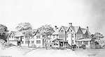 Pittsburgh PA:  View of an Ingham, Boyd and Pratt Architect's rendering of the Pennsylvania College for Women's new Dormitory.  Pennsylvania College for Women changed it's name in 1955 to Chatham College.