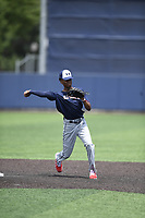 TEMPORARY UNEDITED FILE:  Image may appear lighter/darker than final edit - all images cropped to best fit print size.  <br /> <br /> Under Armour All-American Game presented by Baseball Factory on July 19, 2018 at Les Miller Field at Curtis Granderson Stadium in Chicago, Illinois.  (Mike Janes/Four Seam Images) Armani Sanchez is an infielder from Houston Heights High School in Houston, Texas committed to Oklahoma.