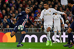 Carlos Henrique Casimiro of Real Madrid and Kylian Mbappe of Paris Saint-Germain FC during UEFA Champions League match between Real Madrid and Paris Saint-Germain FC at Santiago Bernabeu Stadium in Madrid, Spain. November 26, 2019. (ALTERPHOTOS/A. Perez Meca)