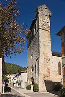 Europe/France/Midi-Pyrénées/46/Lot/Castelfranc: Le clocher-mur de l'église