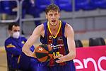 League ACB-ENDESA 2020/2021.Game 15.<br /> FC Barcelona vs Club Joventut Badalona: 88-74.<br /> Artem Pustovyi.