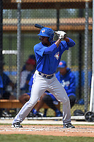 Toronto Blue Jays D.J. Davis (4) during a minor league spring training game against the New York Yankees on March 24, 2015 at the Englebert Complex in Dunedin, Florida.  (Mike Janes/Four Seam Images)