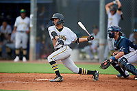 GCL Pirates Jasiah Dixon (24) bats during a Gulf Coast League game against the GCL Rays on August 7, 2019 at Charlotte Sports Park in Port Charlotte, Florida.  GCL Rays defeated the GCL Pirates 5-3 in the second game of a doubleheader.  (Mike Janes/Four Seam Images)