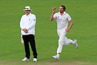 Michael Hogan runs in to bowl for Glamorgan during Glamorgan CCC vs Essex CCC, Specsavers County Championship Division 2 Cricket at the SSE SWALEC Stadium on 23rd May 2016