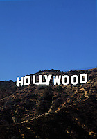 The landmark Hollywood sign. Los Angeles, California.