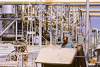Kuwait November 1966.  Ahmadi Water Desalinization Plant.