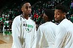 DENTON, TX - MARCH 1: North Texas Mean Green Men's Basketball v Western Kentucky University at Super Pit - North Texas Coliseum on March 1, 2020 in Denton, Texas.