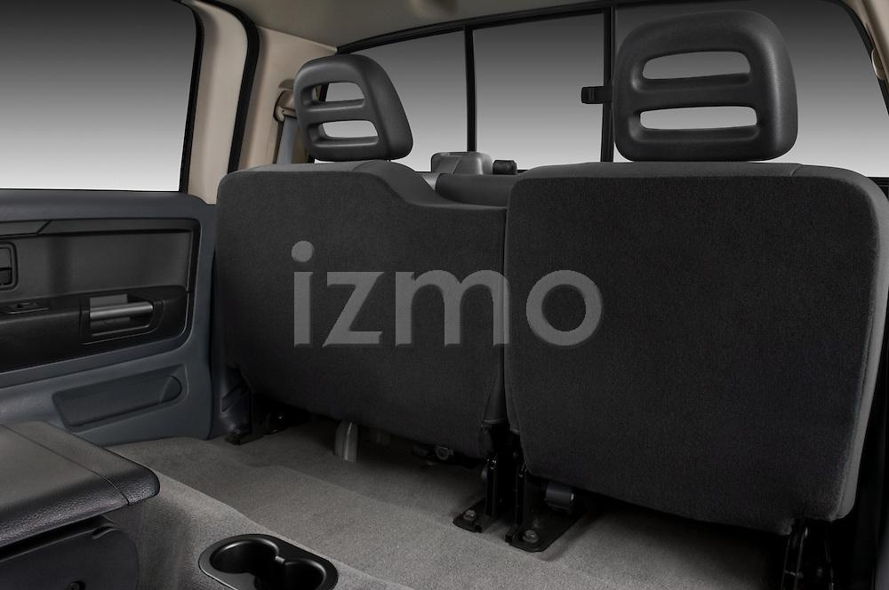 Rear seats of a 2008 Mitsubishi Raider pickup truck