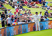 NZ's Tom Blundell signs autographs during day four of the second International Test Cricket match between the New Zealand Black Caps and Pakistan at Hagley Oval in Christchurch, New Zealand on Wednesday, 6 January 2021. Photo: Dave Lintott / lintottphoto.co.nz