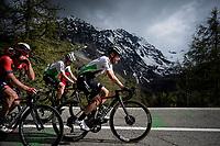 Enrico Gasparotto (ITA/Dimension Data) leading the grupetto up the Colle San Carlo (Cat1/1921m/10.1km/9.8%)<br /> <br /> Stage 14: Saint Vincent to Courmayeur/Skyway Monte Bianco (131km)<br /> 102nd Giro d'Italia 2019<br /> <br /> ©kramon