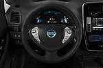 Car pictures of steering wheel view of a 2017 Nissan Leaf SL 5 Door Hatchback