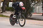 Elia Viviani (ITA) Cofidis recons Stage 7 of Tirreno-Adriatico Eolo 2021, an individual time trial running 10.1km around San Benedetto del Tronto, Italy. 16th March 2021. <br /> Photo: LaPresse/Marco Alpozzi | Cyclefile<br /> <br /> All photos usage must carry mandatory copyright credit (© Cyclefile | LaPresse/Marco Alpozzi)