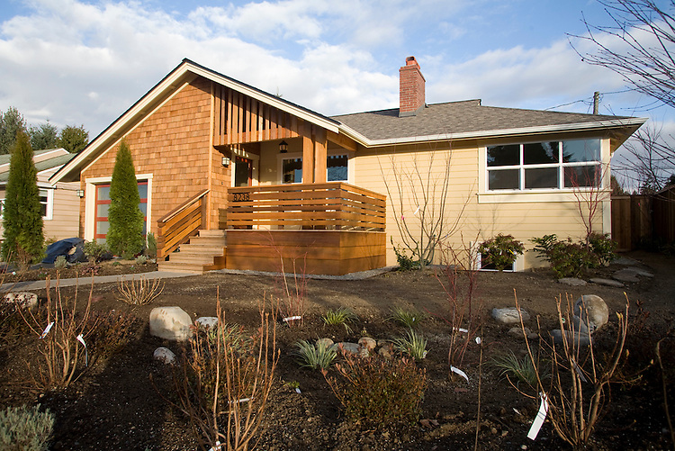 Seattle, Energy efficient house, Wedgewood neighborhood residential house, 3 star, built green remodel, by the  Cottage Company, landscaping City Garden Services