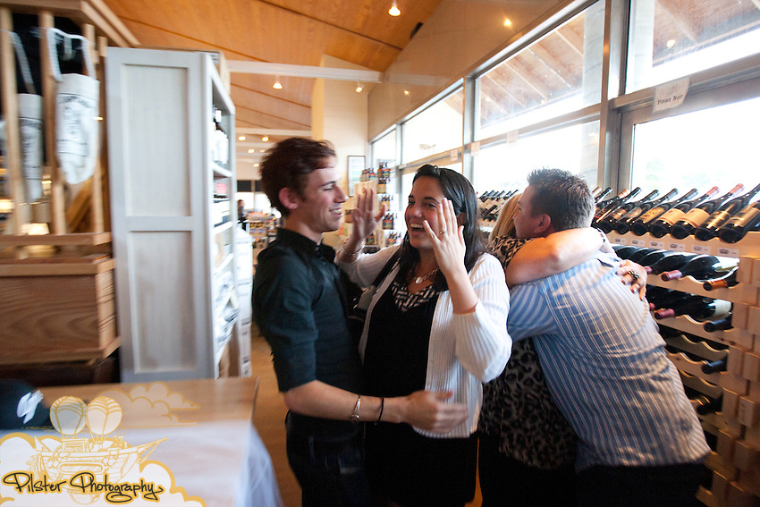 Tristan Brewer and Kristine McGinnis at their engagement party on Saturday, September 4, 2011, at the Shipyard Emporium in Winter Park, Florida. Tristan's mom Tonia Brewer helped to organize the party. (Chad Pilster for Pilster Photography http://www.PilsterPhotography.net)