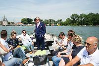 VIP boat<br /> Hoorn, Netherlands <br /> LEN 2016 European Open Water Swimming Championships <br /> Open Water Swimming<br /> Men's 10km<br /> Day 01 10-07-2016<br /> Photo Giorgio Perottino/Deepbluemedia/Insidefoto