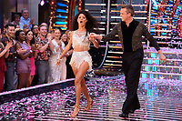 """Vick Hope and Graeme Swann<br /> at the launch of """"Strictly Come Dancing"""" 2018, BBC Broadcasting House, London<br /> <br /> ©Ash Knotek  D3426  27/08/2018"""