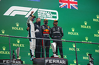 29th August 2021; Spa Francorchamps, Stavelot, Belgium: FIA F1 Grand Prix of Belgium,  race day: After cancellation of the race due to standing water on track, the Podium VERSTAPPEN Max (ned), Red Bull Racing Honda RB16B, portrait RUSSELL George (gbr), Williams Racing F1 FW43B, portrait HAMILTON Lewis (gbr), Mercedes AMG F1 GP W12 E Performance, portrai during the Formula 1 Belgium Grand Prix,