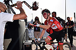 Race leader Tadej Pogacar (SLO) UAE Team Emirates wins Stage 3 of the 2021 UAE Tour running 166km from Al Ain to Jebel Hafeet, Abu Dhabi, UAE. 23rd February 2021.  <br /> Picture: LaPresse/Gian Mattia D'Alberto | Cyclefile<br /> <br /> All photos usage must carry mandatory copyright credit (© Cyclefile | LaPresse/Gian Mattia D'Alberto)