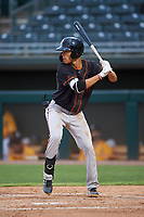 AZL Giants Black Grant McCray (40) at bat during an Arizona League game against the AZL Athletics Gold on July 12, 2019 at Hohokam Stadium in Mesa, Arizona. The AZL Giants Black defeated the AZL Athletics Gold 9-7. (Zachary Lucy/Four Seam Images)