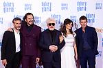 (L-R) Leonardo Sbaraglia, Asier Etxeandia, Pedro Almodovar, Penelope Cruz and Antonio Banderas attend the movie premiere of 'Dolor y gloria' in Capitol Cinema, Madrid 13th March 2019. (ALTERPHOTOS/Alconada)