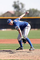 Ben Rowen of the Texas Rangers  plays in a minor league spring training game against the San Diego Padres at the Rangers complex on March 26, 2011  in Surprise, Arizona. .Photo by:  Bill Mitchell/Four Seam Images.