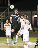 The Winthrop University Eagles beat the UNC Asheville Bulldogs 4-0 to clinch a spot in the Big South Championship tournament.  Rob May (5)