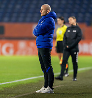 BREDA, NETHERLANDS - NOVEMBER 27: Arjan Veurink of the Netherlands watches his team during a game between Netherlands and USWNT at Rat Verlegh Stadion on November 27, 2020 in Breda, Netherlands.