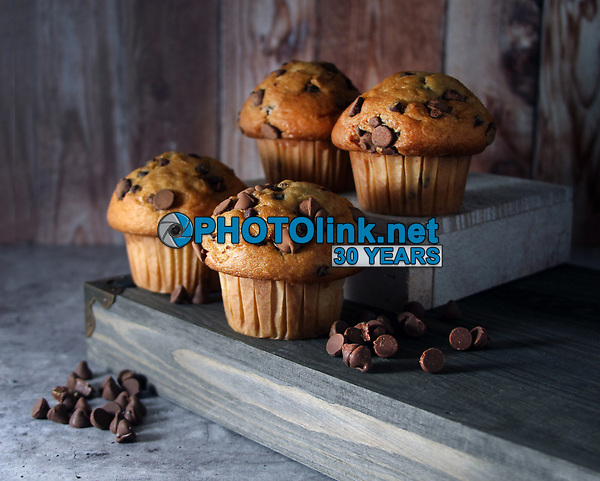 Chocolate Chip Muffins<br /> Photo By Adam Scull/PHOTOlink.net