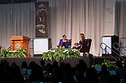 January 23, 2017; Notre Dame Law School Alumna Judge Ann Williams speaks during a conversation with Alumna Erin McGinley '96 at the Martin Luther King Jr. celebration luncheon, part of the 2017 Walk the Walk Week. (Photo by Matt Cashore/University of Notre Dame)
