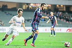 Rufino Segovia of SC Kitchee (R) is chased by Auckland City Midfielder Albert Riera (L) during the Nike Lunar New Year Cup 2017 match between SC Kitchee (HKG) and Auckland City FC (NZL) on January 31, 2017 in Hong Kong, Hong Kong. Photo by Marcio Rodrigo Machado / Power Sport Images