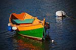 Rowboat and buoy, Balboa Island, CA.