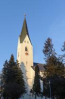 Katholische Kirche St.Johannes Baptist  in Oberstdorf im Allgäu, Bayern, Deutschland<br /> Catholic church St. Johann Baptist   in Oberstdorf, Allgäu, Bavaria,  Germany