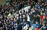 St Johnstone v Celtic...13.12.15  SPFL  McDiarmid Park, Perth<br /> The saints fans join in the minutes applause in memory of former player Willie Coburn who passed away<br /> Picture by Graeme Hart.<br /> Copyright Perthshire Picture Agency<br /> Tel: 01738 623350  Mobile: 07990 594431