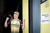 stage 7 winner Dylan Groenewegen (NED/Jumbo Visma) <br /> <br /> Stage 7: Belfort to Chalon-sur-Saône (230km)<br /> 106th Tour de France 2019 (2.UWT)<br /> <br /> ©kramon