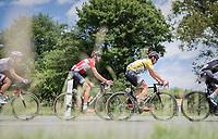 yellow jersey / GC leader Thomas de Gendt (BEL/Lotto-Soudal) <br /> <br /> Stage 6: Le parc des oiseaux/Villars-Les-Dombes › La Motte-Servolex (147km)<br /> 69th Critérium du Dauphiné 2017